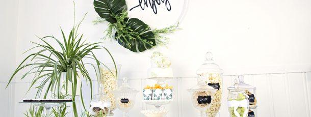 """{ Hvitt & grønt dessertbord // Bildedryss // """"Bananblad"""" }"""