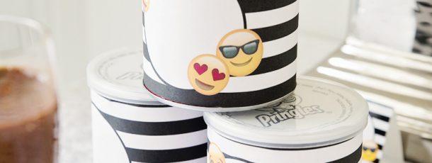 { Emoji-party // Pringlesbokswrapper // Gratis print }