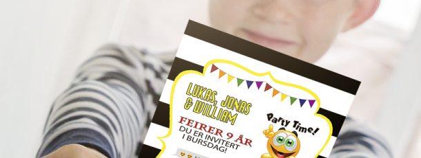 { Emoji-party // Invitasjoner // Gratis print }