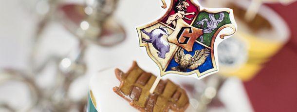 { Gratis print // Harry Potter bursdag // Cupcakewrappere og skilt }