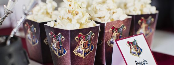 { Popcornbokser // Gratis print // Harry Potter bursdag }