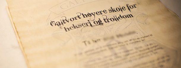 { Gratis print // Invitasjoner til Harry Potter bursdag // Brev fra Galtvort  }